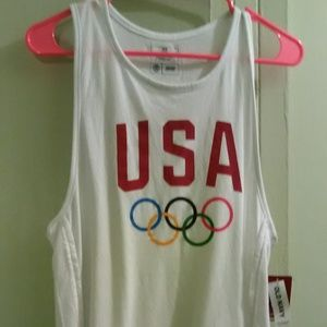 USA Olympic Team Apparel Women's White Tank Top M